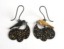 bird star earrings