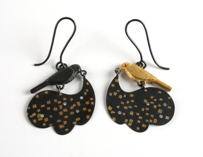 bird star earrings